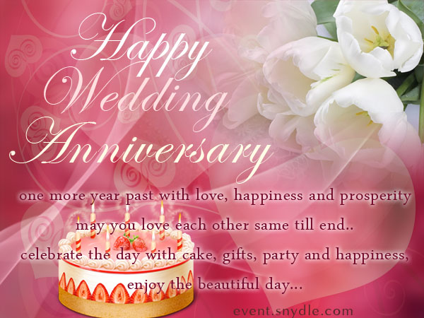 Wedding anniversary cards free download dress