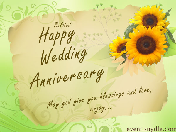 Wedding anniversary cards festival around the world belated wedding anniversary cards m4hsunfo