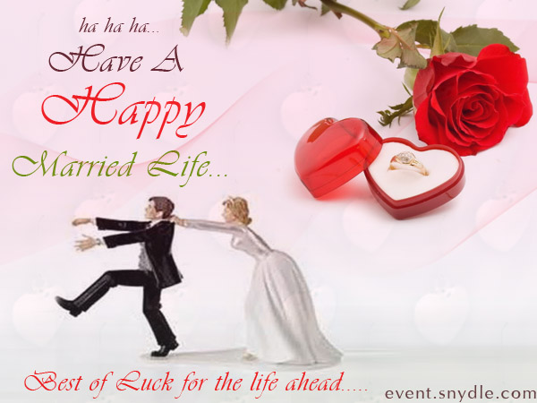One more Funny wedding wishes cards for you, just enjoy to share…