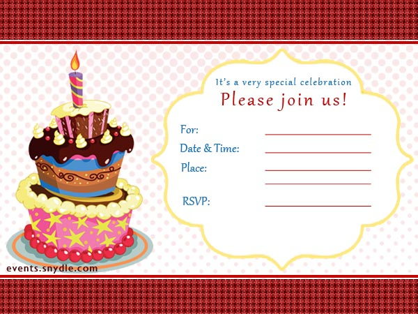 20 top birthday invitations to invite your guests festival around pesonalized birtdhay invitations1r stopboris Gallery