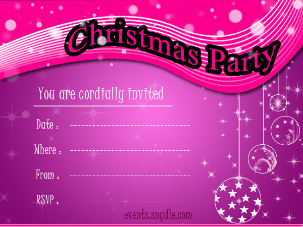 Christmas Invitation Greetings  Invitation Card For Get Together