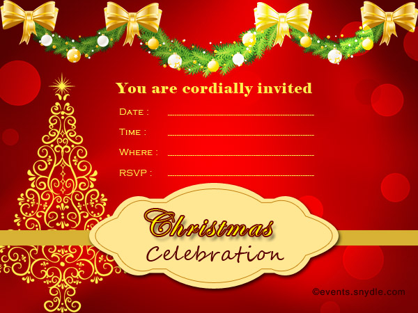 Christmas Invite Cards Bules Penantly Co