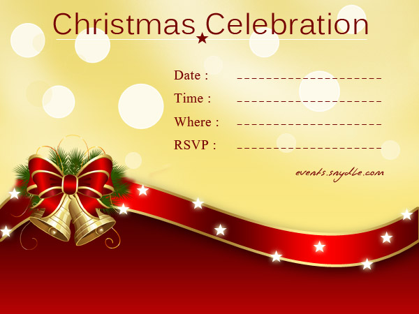 Christmas Invitation Cards Festival Around the World – Christmas Party Invitation Card