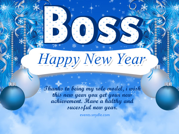 new year greetings for boss