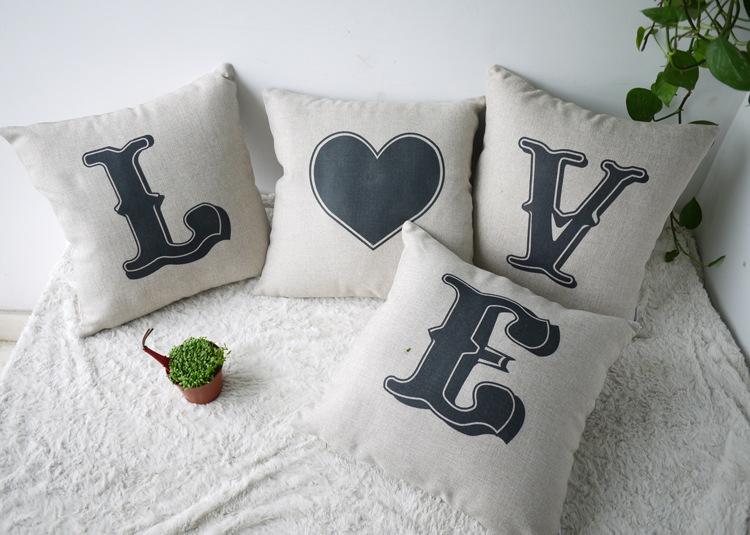 love-Cotton-Wedding-Throw-font-b-Pillow