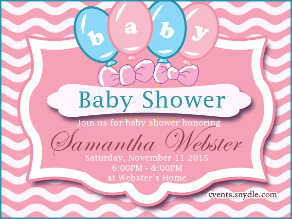 Baby Shower Invitations Festival Around the World