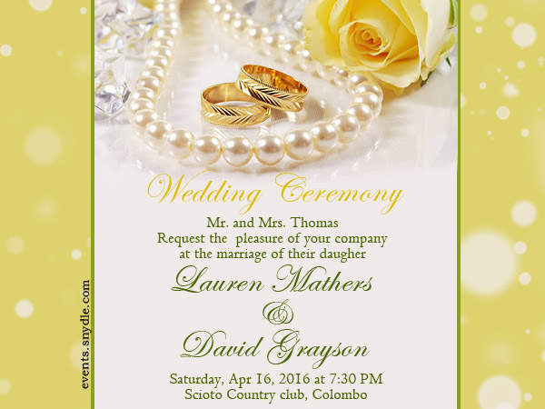 Beautiful Wedding Invitation Templates: Free Online Wedding Invitation Cards