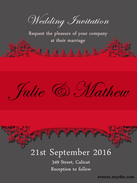 How to write marriage invitation card liesproblems how to write marriage invitation card stopboris Gallery