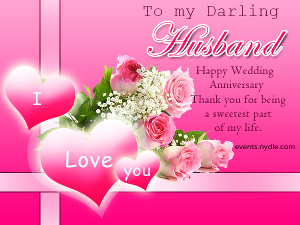 Wedding Anniversary Cards for Husband - Festival Around ...