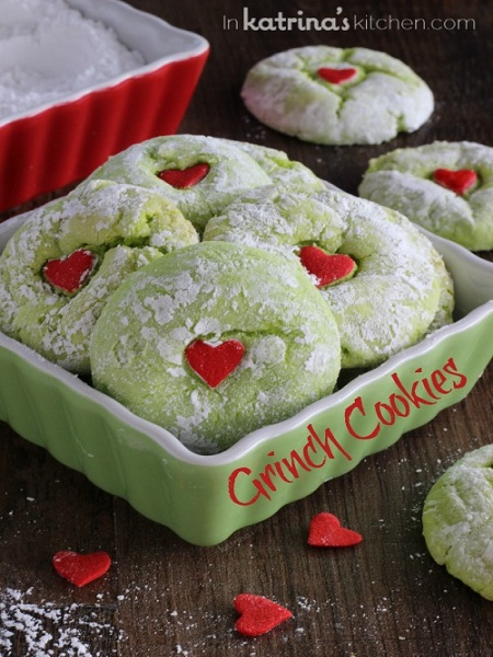 3 Grinch-Cookies
