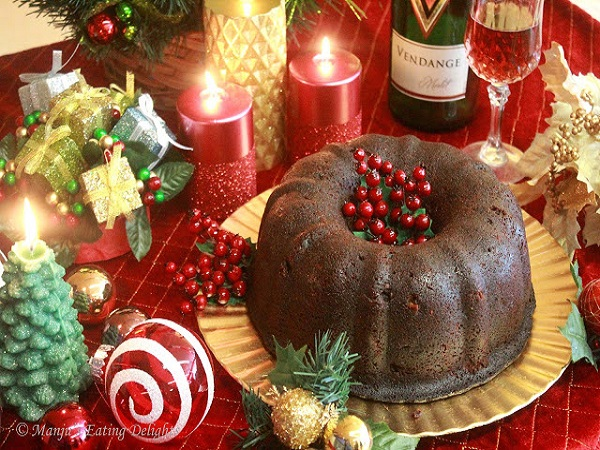 tradtional fruit cake with rum