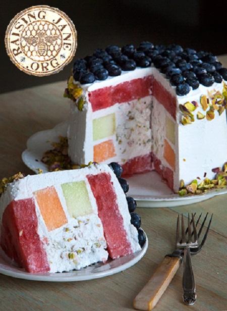 pistachio-melon-cake