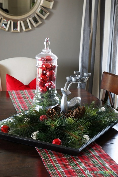 Simple Christmas Decorations For Dining Table