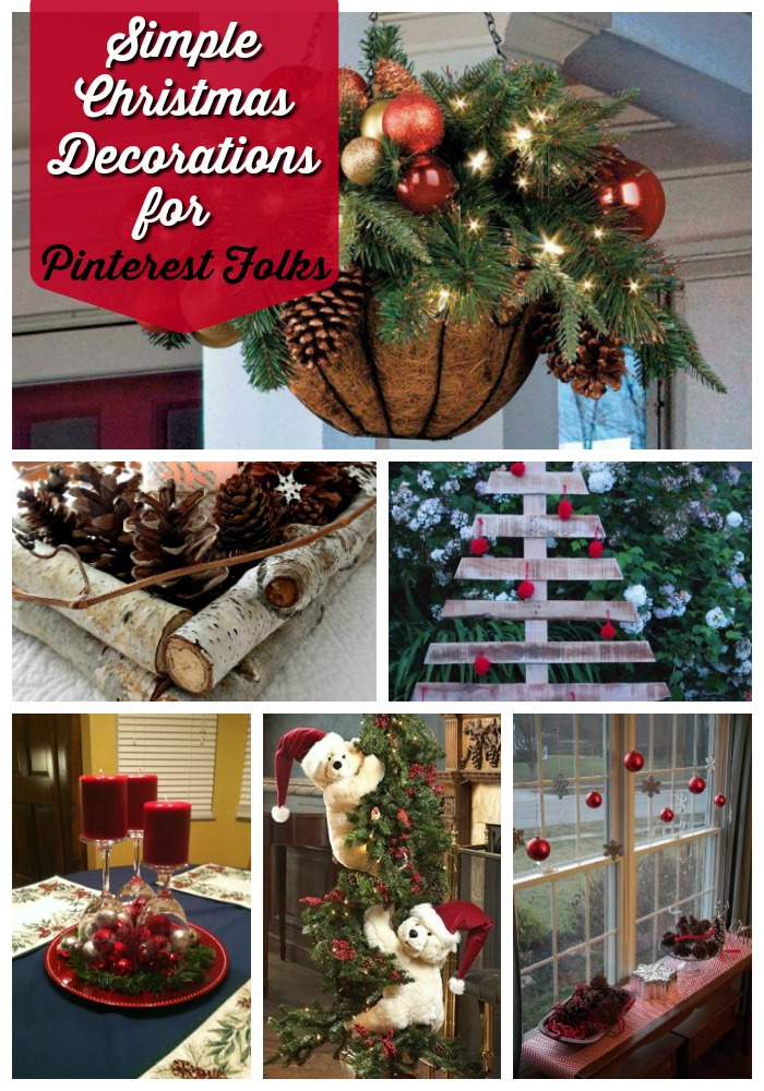 simple christmas decorations pinterest