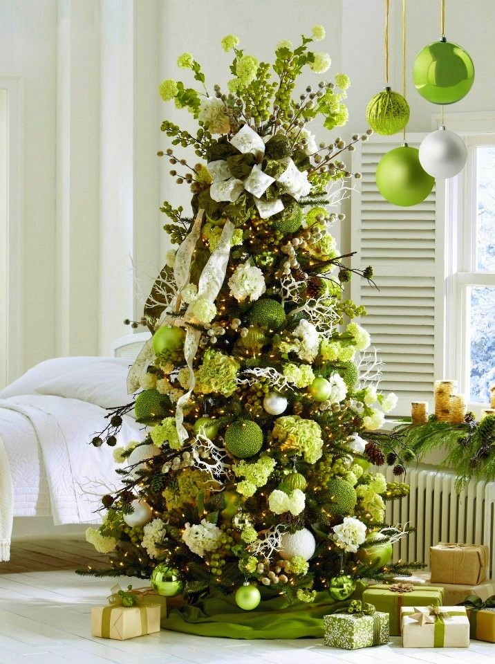 Most gorgeous christmas tree decorating ideas for 2016 Christmas tree ornaments ideas