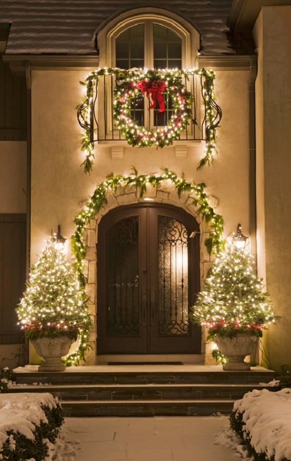 easy outside christmas lighting ideas. Fine Lighting Doorway Lights Inside Easy Outside Christmas Lighting Ideas