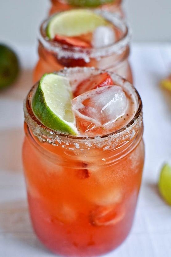 10. Fresh Strawberry Margaritas