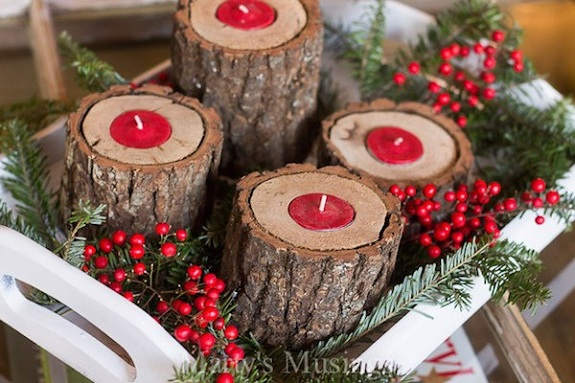 rustic-wood-candle-holders