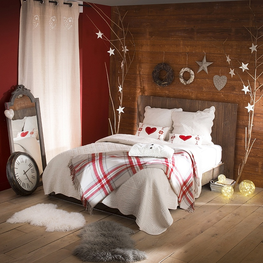 Bedroom Decorating Ideas: Cozy Christmas Bedroom Decorating Ideas