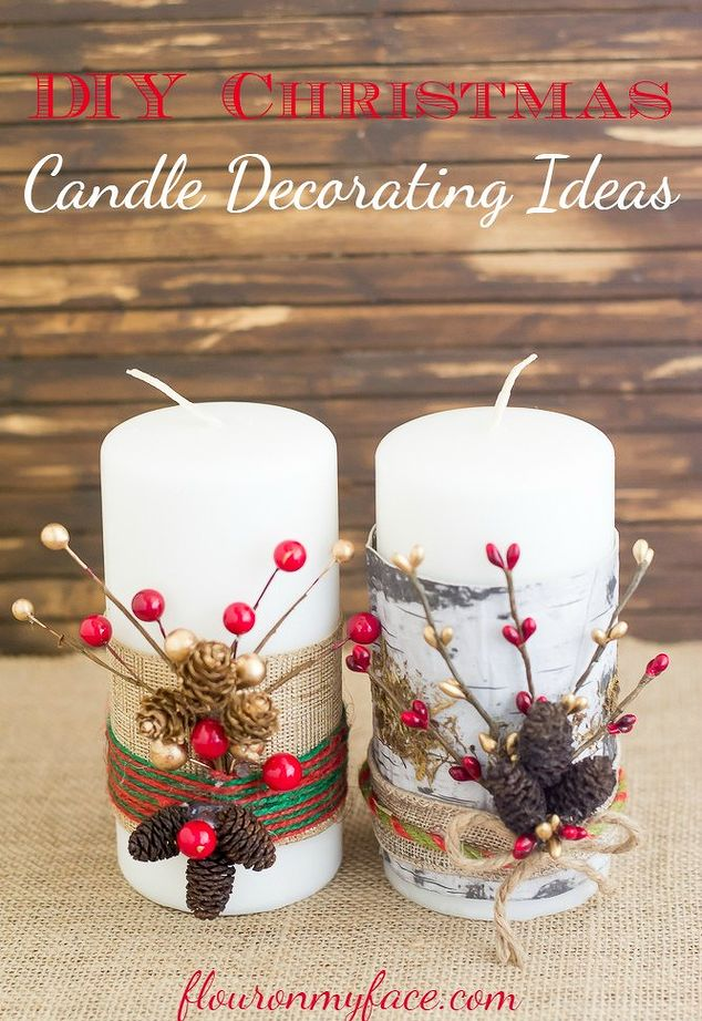 Beautiful christmas candle decoration ideas festival for How to make christmas candle holders