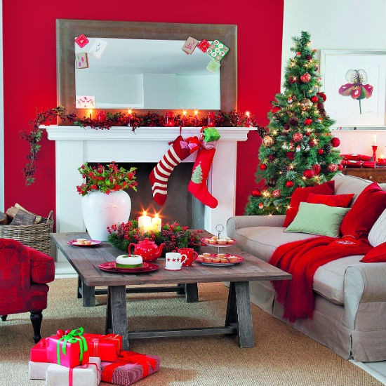 christmas living room decoration ideas 6