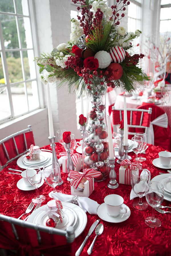 Beautiful christmas table decoration ideas festival - Christmas table setting ideas ...