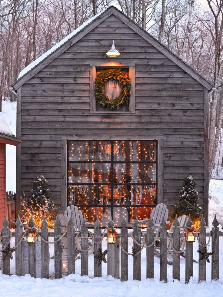 Beautiful country christmas decorating ideas festival for Outer decoration of house