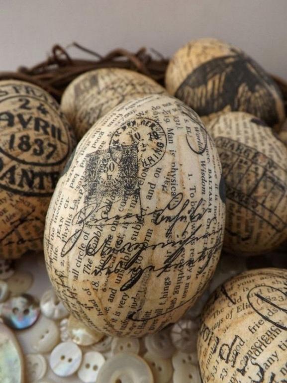 vintage paper easter eggs
