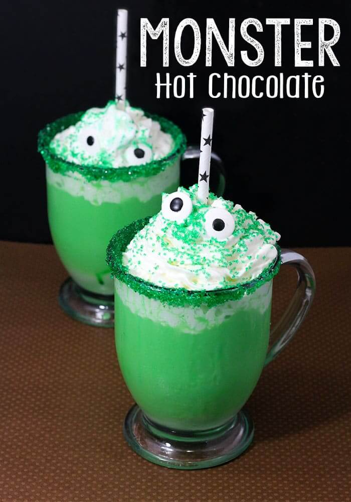 monster halloween chocolate drinks drink fun recipes cocktail easy spooky alcoholic food non livingly cream potion punch party around fall
