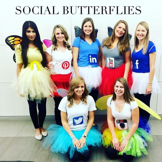 Social Butterflies  sc 1 st  Event.Snydle & 30 Crazy Halloween Group Costume Ideas - Festival Around the World