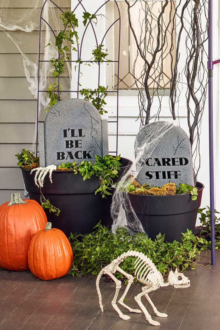 exquisite outdoor halloween decoration ideas festival. Black Bedroom Furniture Sets. Home Design Ideas