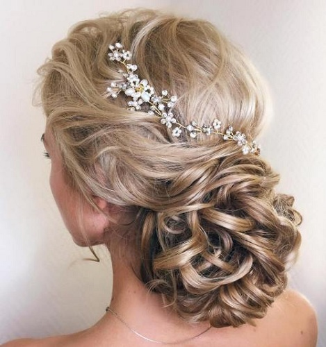 long hair wedding hair styles popular wedding hair styles for hair festival 5639 | Wedding low loopy bun for long hair